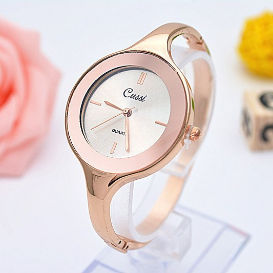 CUSSI Brand Luxury Golden Womens Quartz Wristwatches Women Bracelet Dress Watches Fashion Relogio Feminino Reloj Mujer Jelly in Women 39 s Watches from Watches