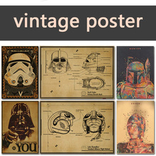 Stormtrooper nostalgia soldiers vader darth yoda kraft poster wars decorative painting