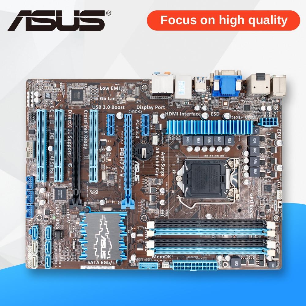 все цены на Asus P8H77-V Desktop Motherboard H77 LGA 1155 22nm i3 i5 i7 DDR3 32G SATA3 USB3.0 ATX On Sale онлайн