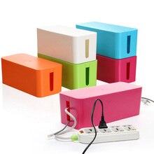 Kunststoff Draht Aufbewahrungsbox Kabel Manager Veranstalter Box Stromleitung Aufbewahrung Anschlussdose Haushaltsgegenstände 3 größen weiß