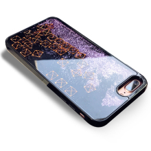 Luxury Bling Glitter case for iPhone 6 6S 7 8 Plus Sequin Silicone  Full Cover Tetris Quicksand Dynamic liquid coque wholesale