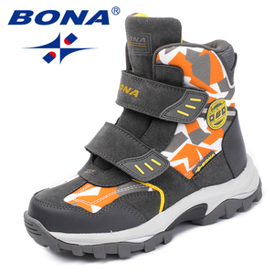 Image 2 - BONA New Popular Style Children Boots Hook & Loop Boys Winter Shoes Round Toe Girls Ankle Boots Comfortable Fast Free Shipping
