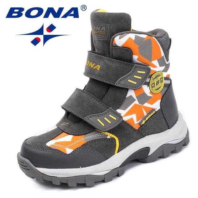 BONA nowy popularny styl dzieci buty Hook & pętla chłopcy