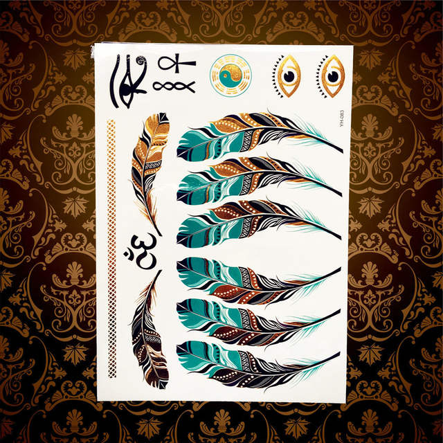 Glitter Gold Silver Metallic Tattoo Hand Finger Makeup HCT149 Cute Love  Heart Tattoo Diamond Star Arrow c586ed546a87