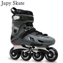 Japy Skate Flying Eagle F7 Inline Skates With 8 Original Hyper Wheels Falcon Adult Roller Skating Shoes Slalom Good With SEBA