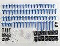 Moto carenagem kit parafusos fastener clipes de alumínio do parafuso aftermarket sportbike azul para honda yamaha suzuki kawasaki