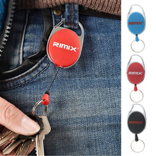 Badge Retractable Strap Keychain Carabiner Clip Card Key Chain Holder Holder Recoil Extendable for Cycling Trekking Running
