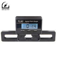 TL90 Digital Pitch Gauge LCD Backlight Display Blades Degree Angle For ALIGN AP800 TREX 450-700 with 2pcs Battery