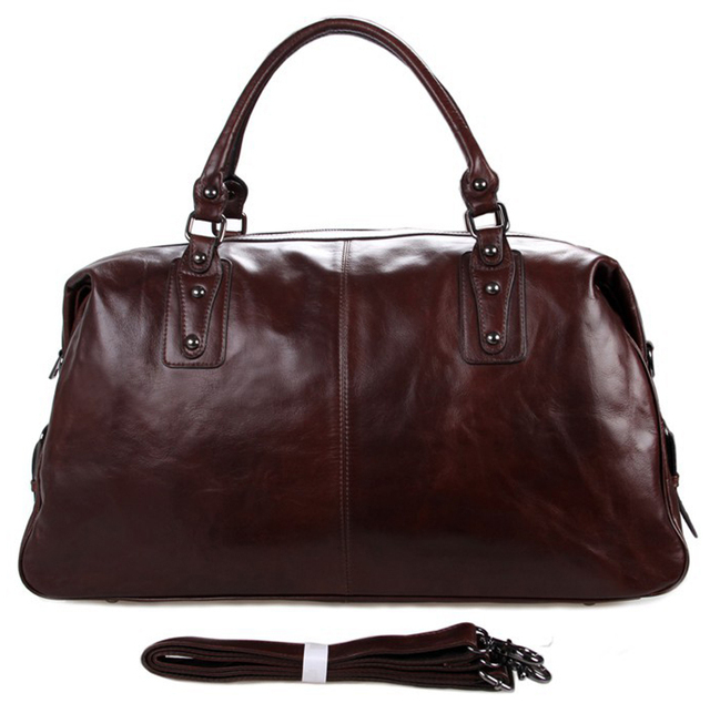 10b4a44bb7 High Class Genuine Leather Travel bag Men duffel bag Leather luggage bag  Carry On Handbag Large