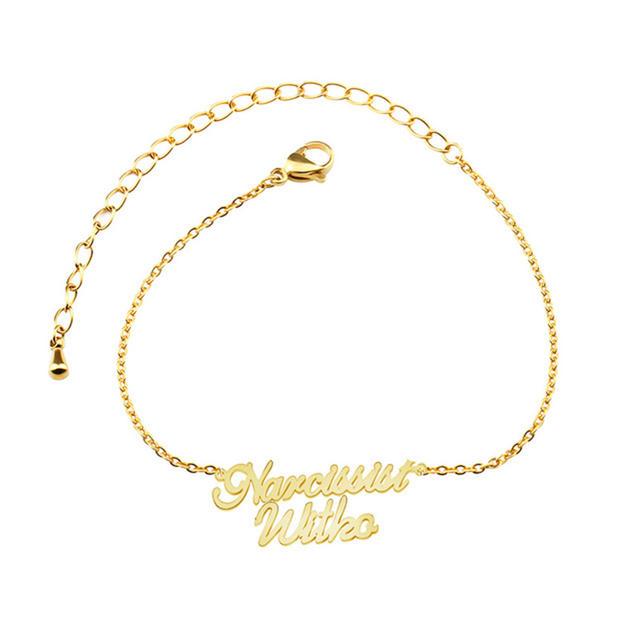 Font Letters Couple Bracelets For Children Women Wedding Jewelry