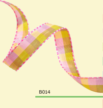 100yards/roll 5/8 Inch(15mm) Colored Tartan Plaid Ribbon