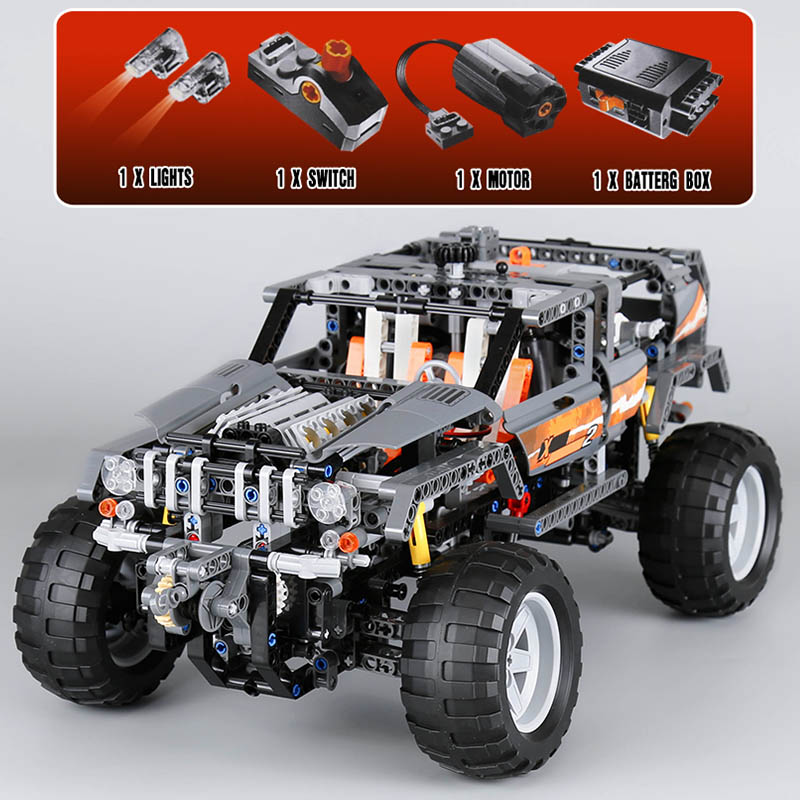 1132pcs Blocks 20030 Technic Ultimate Off-Roader Set Model Building Bricks Kit Toys Children Gifts Compatible Legoe 8297 lepin 20030 technic ultimate series the 1132pcs off roader set children educational building blocks bricks toys model gifts 8297