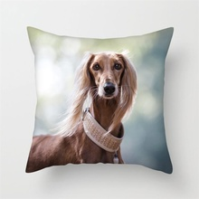 Fuwatacchi New Home Decor Lovely Dog Printed Cushion Cover Linen Pillowcase Decorative Throw Pillow Cover for Sofa Cushion Case недорого