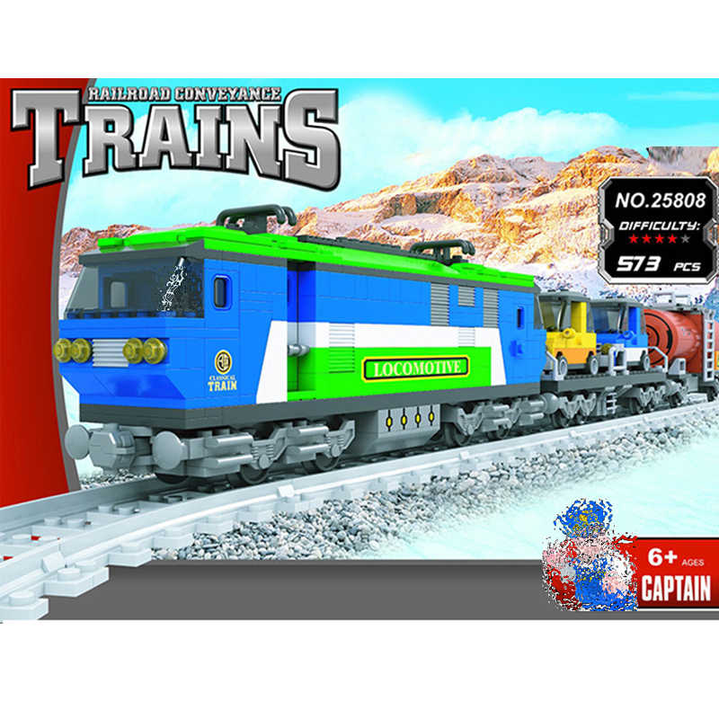 Ausini Trains Building Brick Set 25808 Railroad Car//Engine//Track Block Kit 573pc