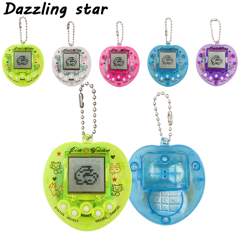 Multi-colors 90s Nostalgic 49 Pets In 1 Virtual Cyber Pet Toy Heart Shape Of Peach Tamagotchi Electronic Pets Keychains Toys