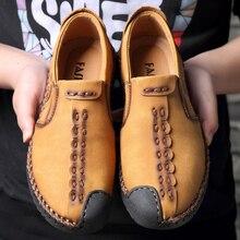 цены 2019 Men Lightweight Comfortable Vulcanize Shoes Fashion Handmade Soft Breathable Moccasins Flats Slipe on plus size38-47