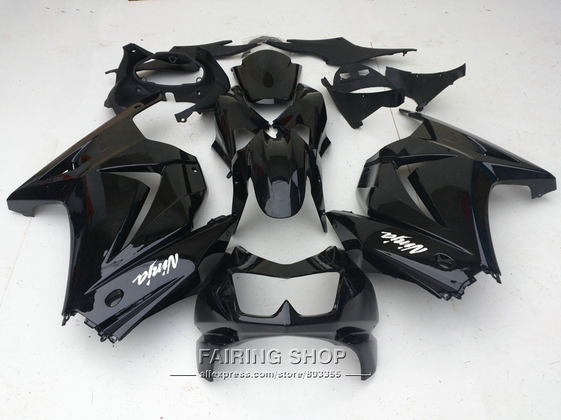 Injection mold fairing kit For Kawasaki ninja 250r 08 09 10-14 2008-2014 black EX250 fairings set PO01