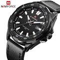 Novo naviforce marca de luxo relógios homens relógios de quartzo horas data relógio de couro homem sports militar do exército relógio de pulso relogio masculino