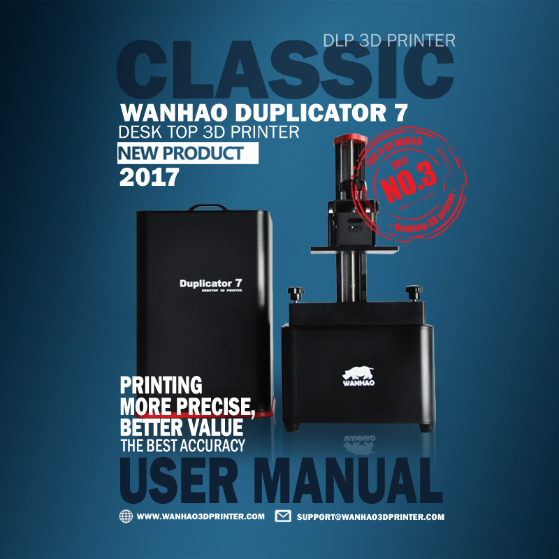 Classic DLP/SLA 3D Printer Wanhao D7 V1.4 Desk Top 3D Printer 2017 New 3D Printer More Precise And Accuracy 3D Printing Machine 2017 hot sell wanhao new version uv resin dlp sla 3d printer d7 high quality with lower price for v1 4
