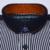 Otoño 2016 de Los Hombres Jóvenes Camisa de Lunares y Rayas Patchwork Cuello de Impresión de Manga Larga de Algodón Puro Confort Interior Suave Camisa Casual