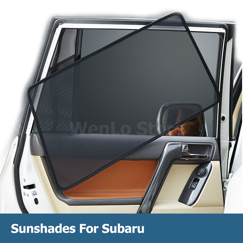 4 Pcs Magnetic Car Side Window Sunshade Car Sun Block Curtain Visor Solar Protection Mesh Cover For Subaru Superb Octavia Fabia in Side Window Sunshades from Automobiles Motorcycles