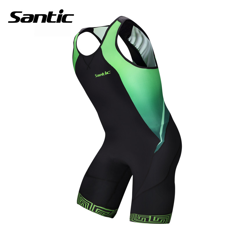 Santic Pro Cycling Jersey Sleeveless Triathlon Cycling Skinsuit 4D Pad MTB Downhill Jersey One-piece Road Bike Bicycle Jersey santic women cycling shorts black spandex pro padded 2017 triathlon running sleeveless mtb road bike bicycle shorts skinsuit