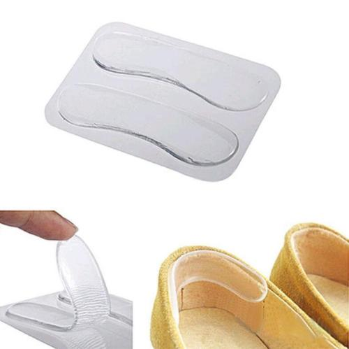 2pcs Gel Insoles Silicone Pads For Shoes High Heel Foot Care Tools Silicone Insole Pad For Heel Back Stick Protectors Feet Care