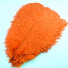 10pcs/lot natural Orange Crafts feathers ostrich plumes Party Decorative 15-70CM large feather for jewelry making Home vase DIY
