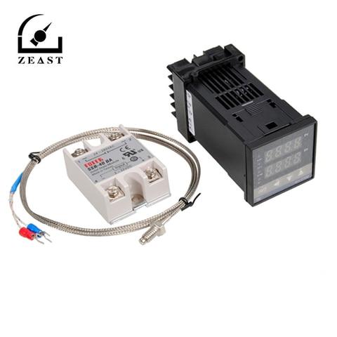 Jogo do Controlador de Temperatura do Pid de Rex-c100 Digitas com tipo Ponta de Prova de 400 Graus 110-240 v 1300 k