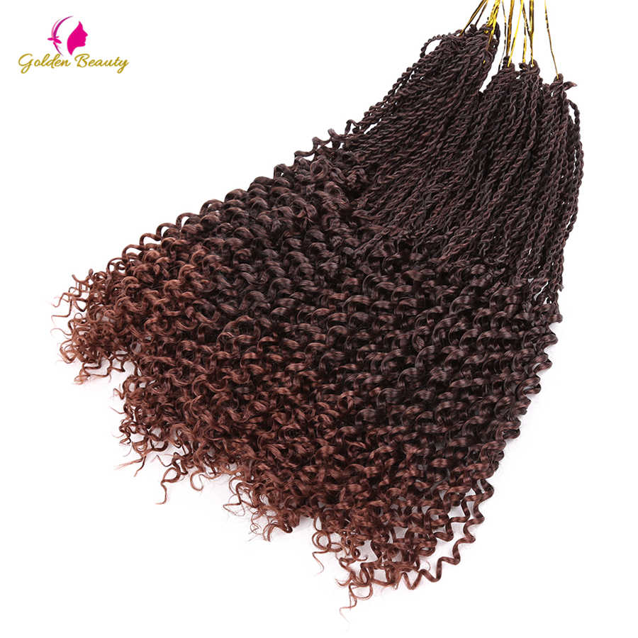 Golden Beauty Goddess Senegalese Twist Hair Crochet Braids 14-16-18inch Synthetic Crochet Hair Extensions