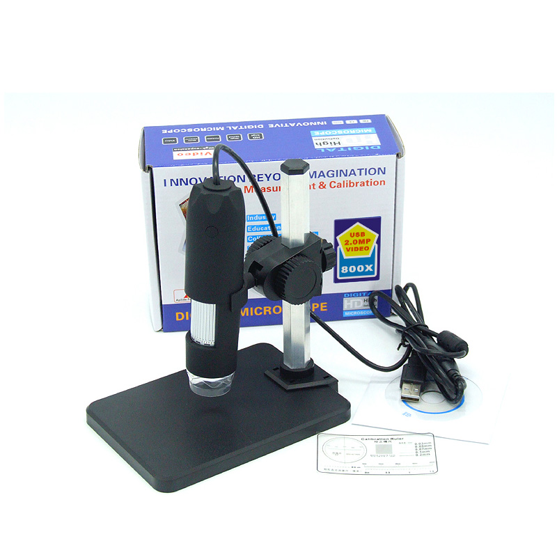 ФОТО 1-50x And 800X USB Digital Microscope + Holder(new) 8-LED Endoscope With Measurement Software