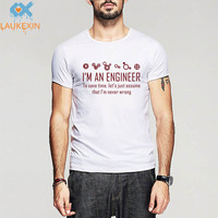 I M An Engineer To Save Time Never Wrong Men T Shirt Slogan Nerd Math Physics