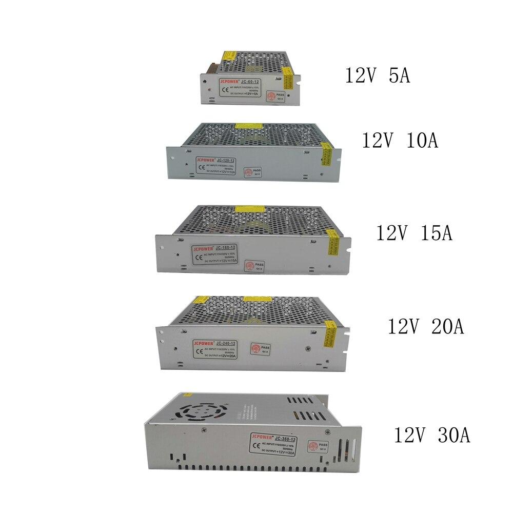 110v 220v To 12v Volt Led Lighting Transformer Power Supply For 5050 3528 2835 Led Strip Lights