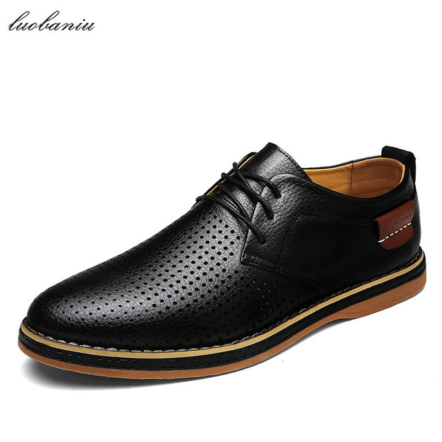 a8529d756 Sapatas do verão Homens Oxfords Sapatos Para Homens Vestido Sapatos Formais  Sapatos Masculinos De Couro Respirável