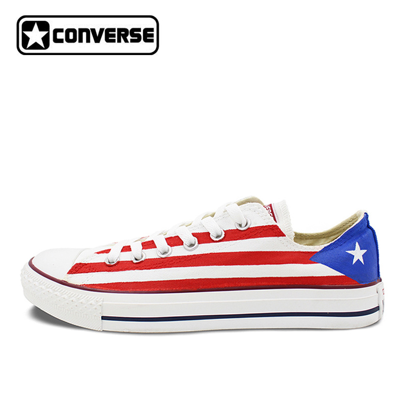 info for 3c999 17015 Online Shop USA Puerto Rico Flag Original Design Converse Chuck Taylor  Custom Hand Painted Sneakers Low Top Skateboarding Shoes Women Men    Aliexpress ...