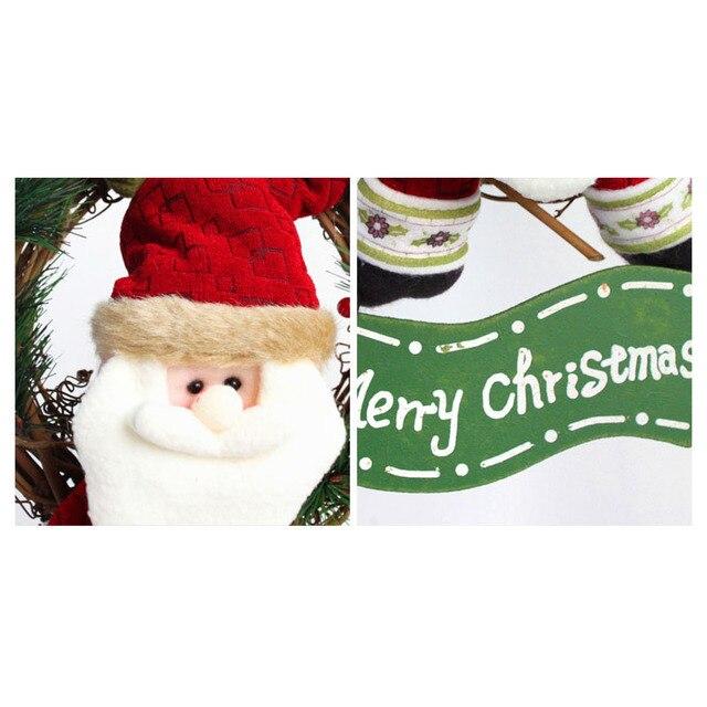 navidad decoracin colgantes guirnaldas puerta colgante adornos rattan guirnaldas navidad decoracin para home party decor - Guirnaldas Navidad