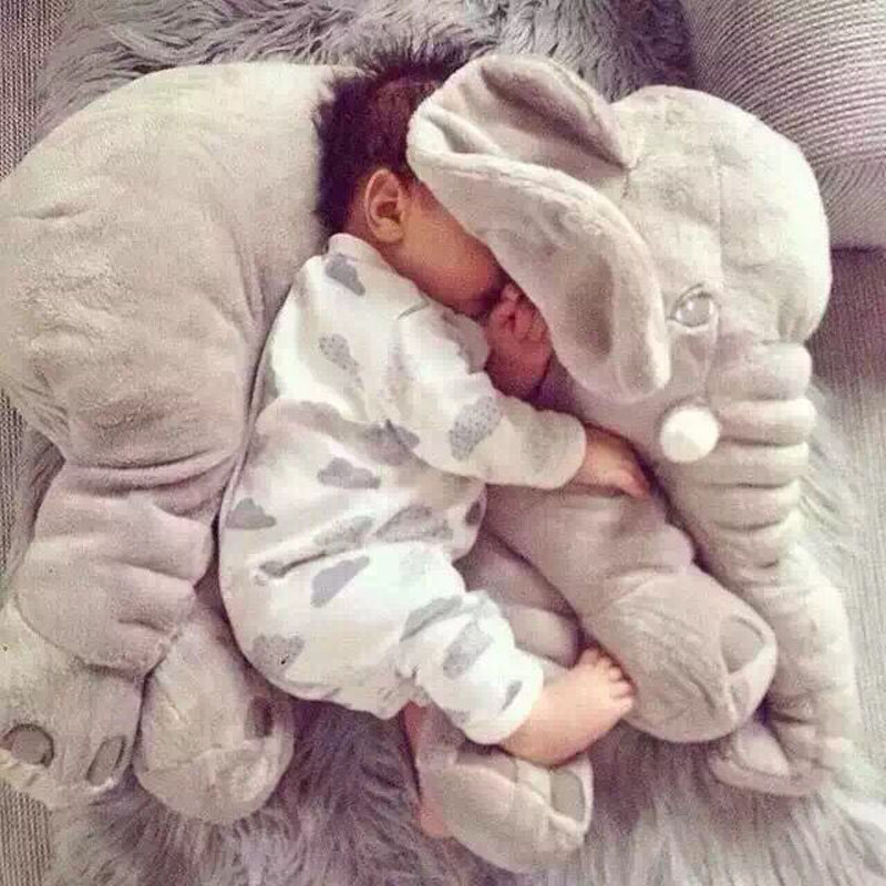 0 60cm Infant Soft Appease Elephant Playmate Calm Doll Baby Appease Toys Elephant Pillow Plush Toys Stuffed Doll Children Gift in Stuffed Plush Animals from Toys Hobbies