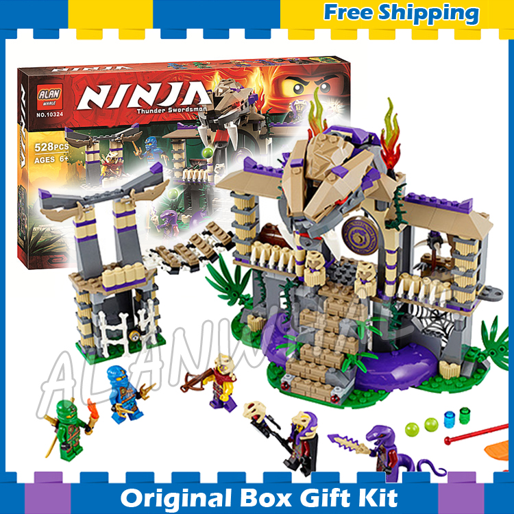 528pcs BELA 10324 Ninja Enter The Serpent Lloyd Jay Kapau'rai sets Building Blocks Figures Toys Compatible With lego  провод nymбм o 2х1 5 ту серый 100м мастертока 10324