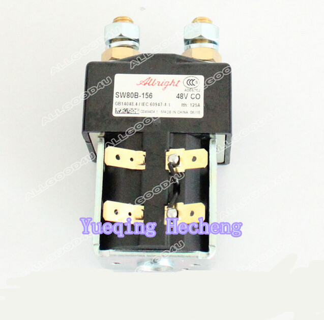 SW80B-156 Contactor 48V For ZAPI Controller Forklift dc reversing contactor dc182b 537t for forklift 48v 200a zapi b4dc21