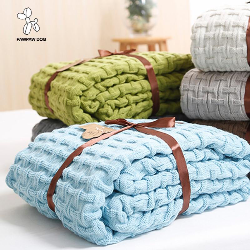 Gestrickte Decken und Bettdecken für Betten Baumwolle Häkeln Plaids ...