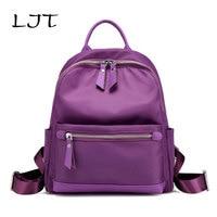 LJT Nylon Waterproof Backpack Lady Oxford Leisure Women Travel Bags Students School Bags for Teenager Girls mochilas mujer 2017