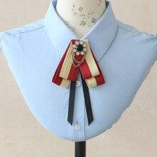Элегантная мужская и женская свадебная полосатая рубашка с воротником из ленты, галстук-платок, британский металлический сплав, стразы, цепочка, кисточки, галстук-бабочка