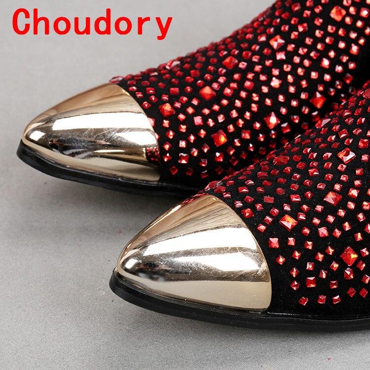 As Luxo Mens Pontudo Do Homens Italiano Sapatos Couro Vermelho De Picture Casamento Strass Choudory Baile Vestido Verão Genuíno Finalistas vxH0wT