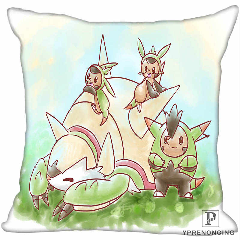 Custom Decorative Pillowcase Pokemon Pikachu Square Zippered Pillow Cover 35X35,40x40,45x45cm(One Side)180522-16