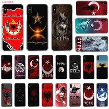 Lavaza of Turkey Albania flag Hard Phone Case for Apple iPhone 6 6s 7 8 Plus X 5 5S SE for iPhone XS Max XR Cover flag turkey flag ultra thin cartoon pattern hard back phone case for iphone 7 7s ccase