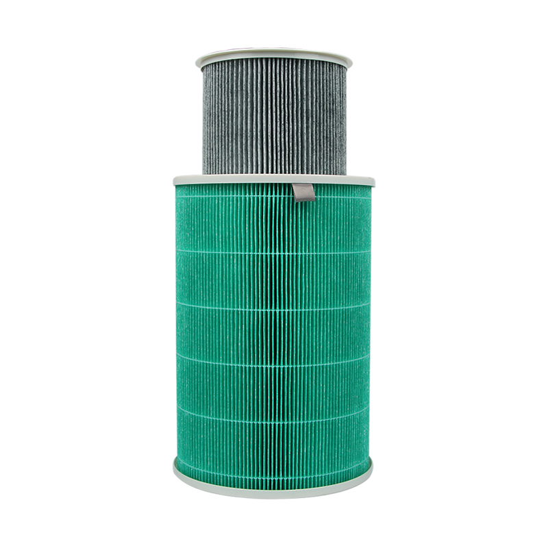 295*200mm cylindrical hepa M air filter cleaner parts, hot sale high efficient composite filter cartridge air purifier parts hot parts