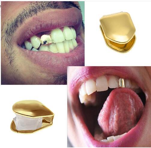 Solo Bling Grillz Fang Drácula Hiphop Diente de Oro Plateado Clip