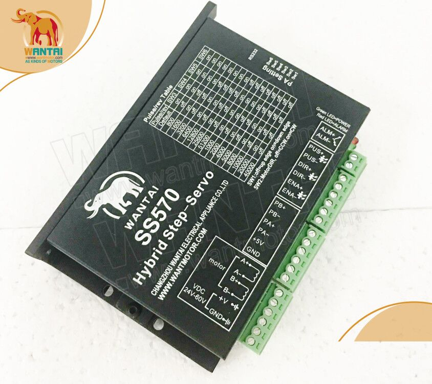 Ship worldwide!! Wantai CNC engraver Closed Loop Servo Motor Driver SS570,7.0A, 24-50VDC, for Nema 23 servo motor, 4000RPM 2 phase 8 5n m closed loop stepper servo motor driver kit 86j18118ec 1000 2hss86h cnc machine motor driver