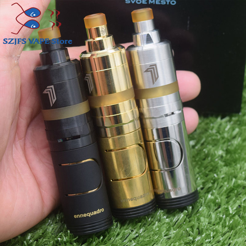 E-cigarette Ennequadro Mod Kit With Kayfun Premium Nite DLC RTA 18350 Battery Vaporizer Mechanical Vape Electronic Cigarette Kit