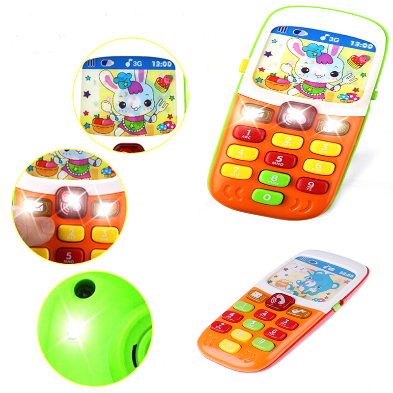 Mini Cute Kids Mobile Phone Cellphone Telephone Educational Toys Musical Instrument For Baby Electronic Phone Musical Toy